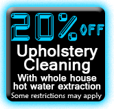 20% OFF Upholstery Cleaning